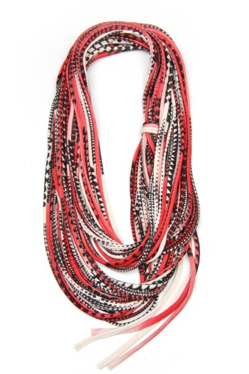 red and black geometric pattern scarf